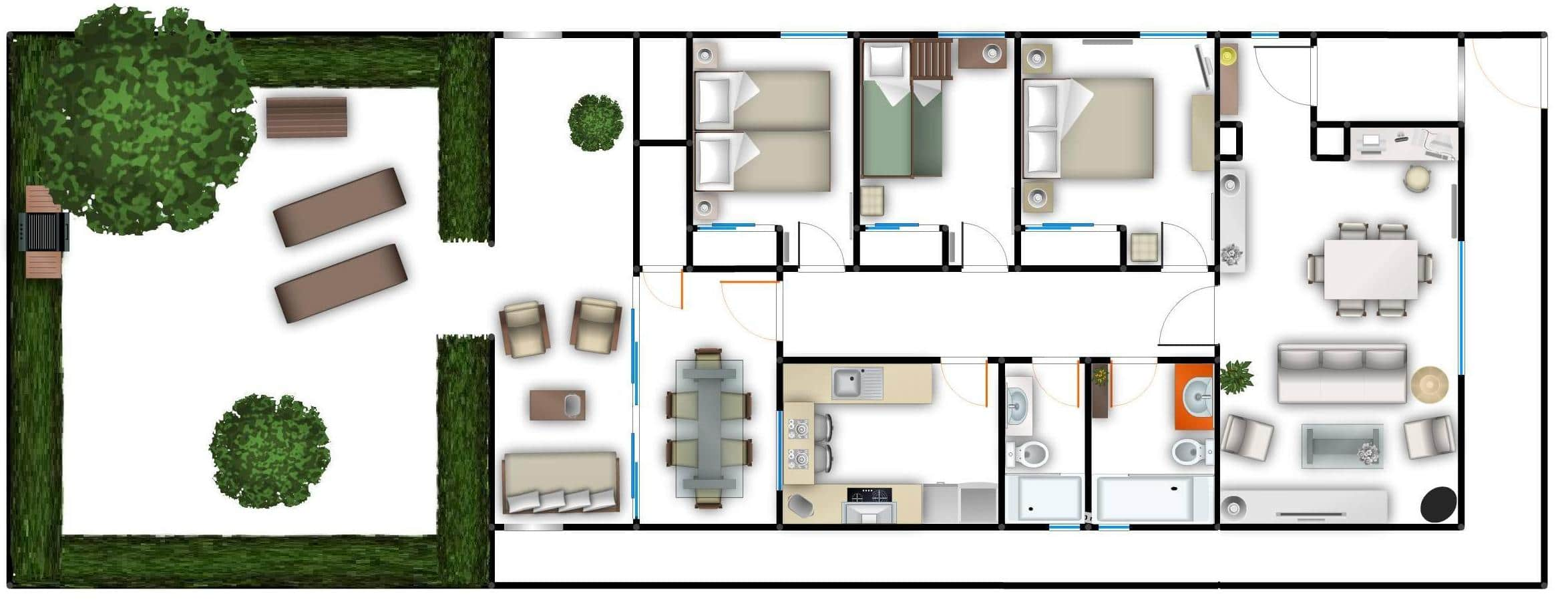 Del mar 37 floor plan, Colònia de Sant Pere, Mallorca, Holiday home for rent