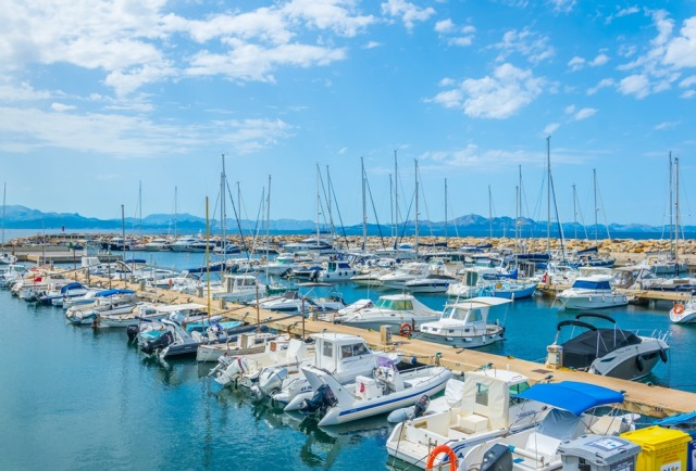 Marina at Colonia de Sant Pere, Mallorca, Spain