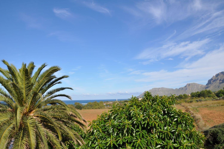 Mountains and sea at Colònia de Sant Pere, Mallorca, Spain